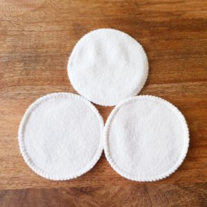 Round Undyded Organic Cotton Makeup Wipes