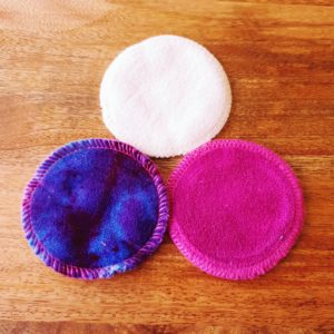 Organic Cotton Makeup Wipes Mixed Colours