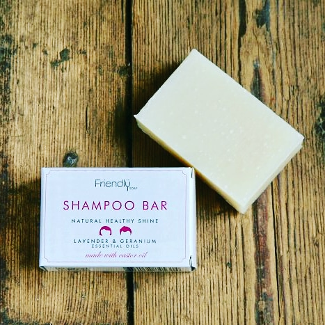 Natural Lavender Geranium Shampoo Bar