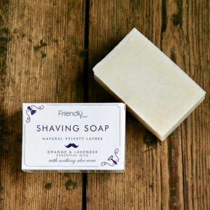 natural orange and lavender shaving soap