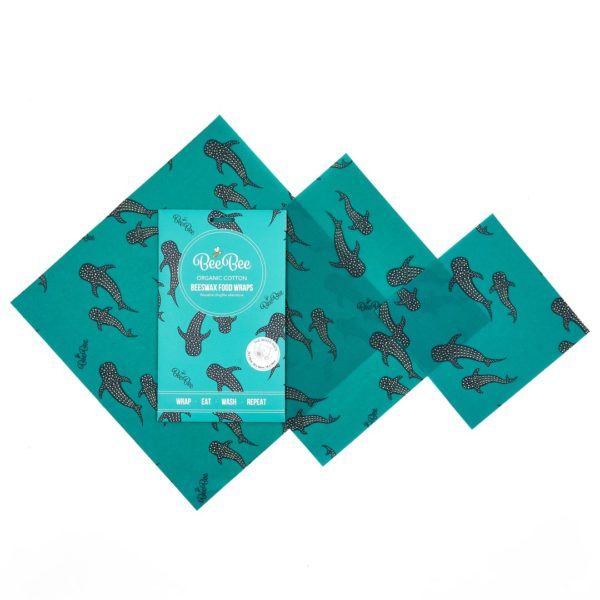 Mixed Pack Beeswax Wraps Whale design