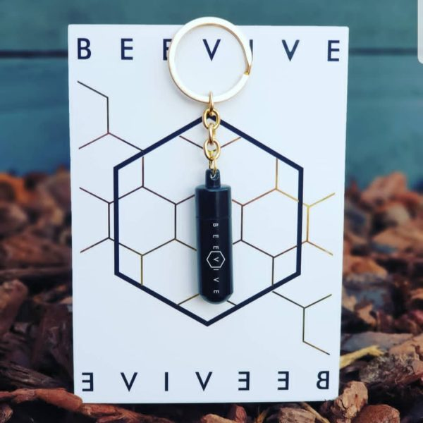 Beevive Key ring black save the bees