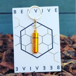 Beevive keyring save tired bees GOLD