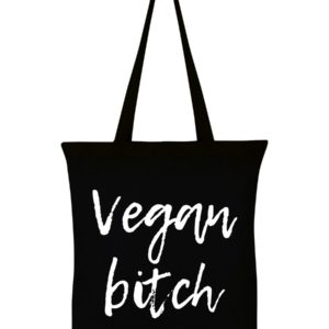 Vegan Bitch Black Cotton Tote