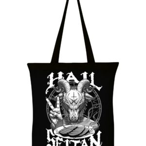 Hail Seitan Vegan Tote Bag Black Cotton