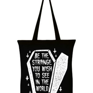 Strange Coffin Eco Tote bag black cotton