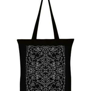 skull and bones eco cotton tote bag
