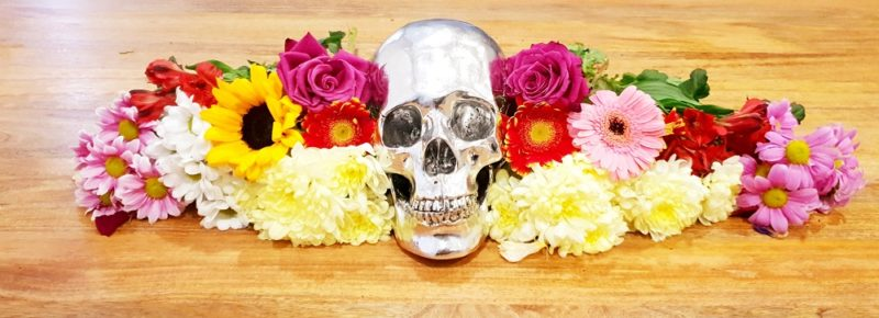 Punk Rock Health skull and flowers