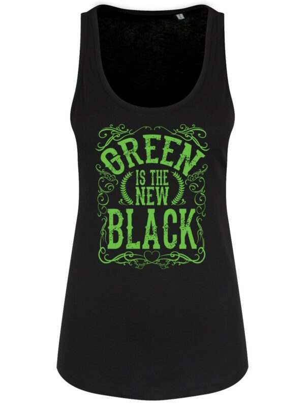 Green is the new black eco cotton top