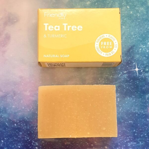Tea tree and turmeric natural soap bar