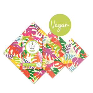 Beebee Wraps VEGAN alternative to clingfilm leaf design mix pack