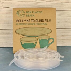 BOLL**KS TO CLING FILM. 6 Stretchy Silicone Lids for Preserving Food Leftovers