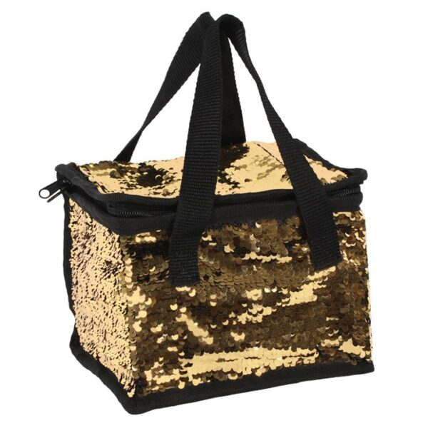 GOLD LUNCH BOX COOL BAG