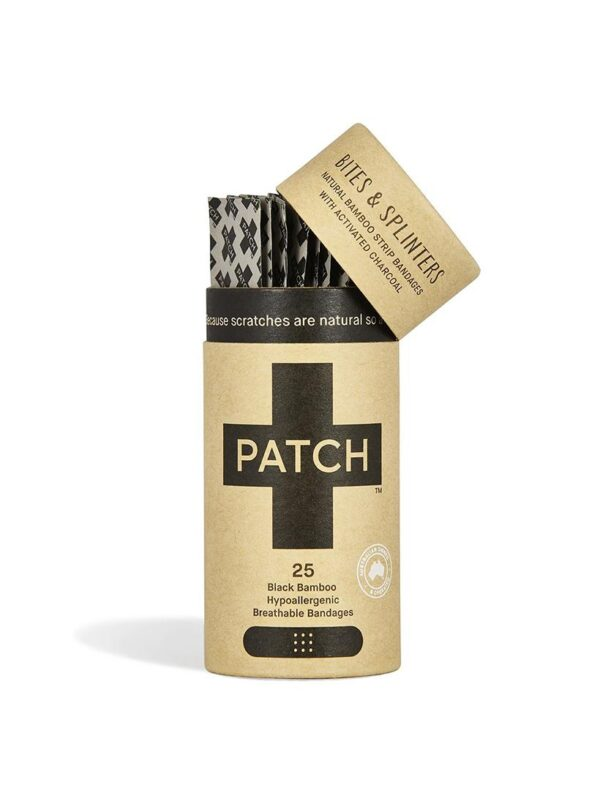 biodegradable black bamboo band aid plasters with activated charcoal