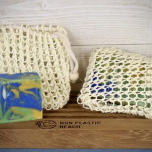Sisal Soap Bags. Bags made of sisal fibre for soap, shampoo and conditioner to aid drying, storage and usage