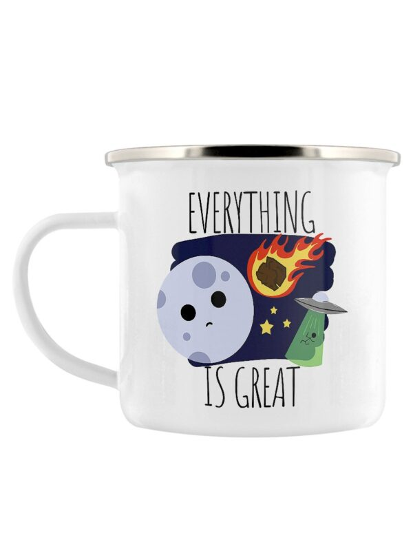 Everything is great enamel travel camping mug