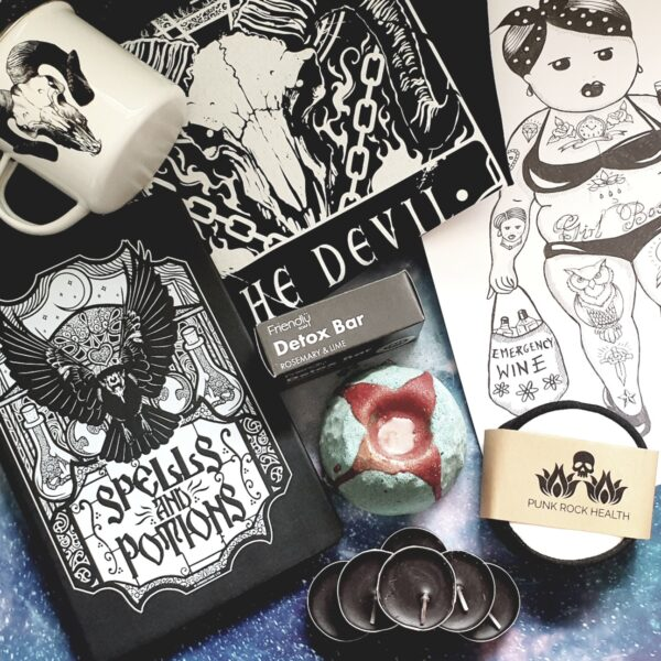 Alternative gothic self care kit