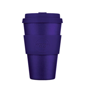 14oz reusable purple travel cup from ecoffee