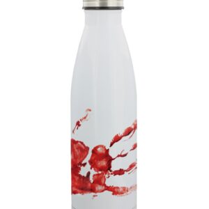 Bloody hand print reusable water bottle stainless steel
