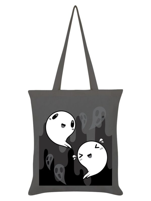 happy ghosts sustainable Halloween tote