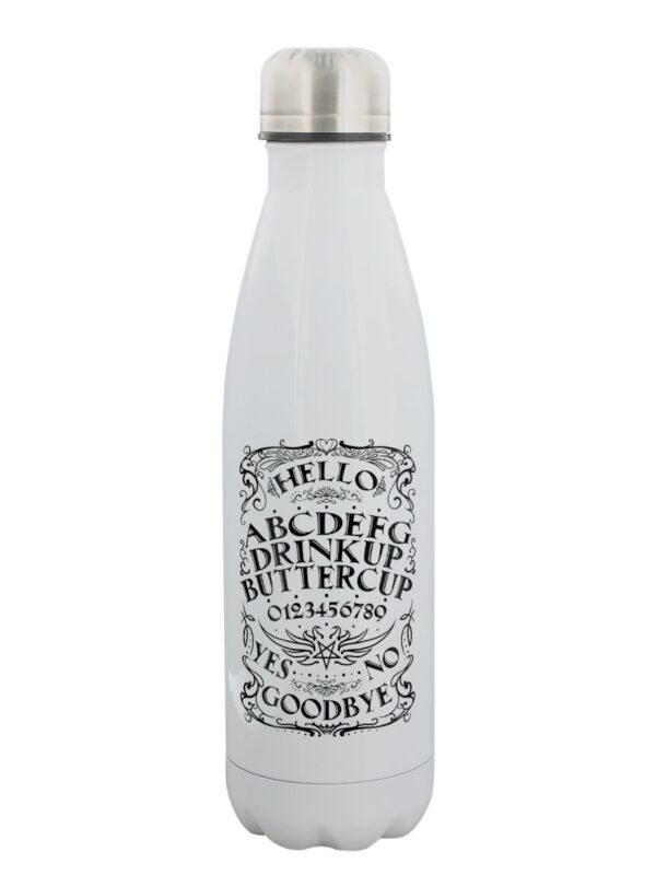 Ouija board stainless steel water bottle reusable and eco
