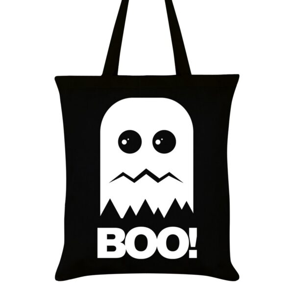 Boo! gothic ghost halloween tote bag eco and sustainable