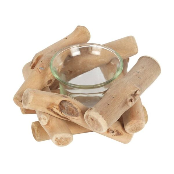 Witches driftwood candle holder