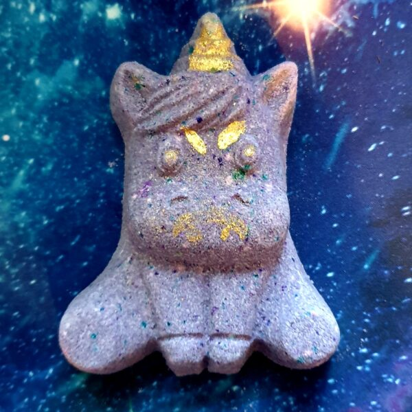 Horror unicorn goth unicorn purple bath bomb