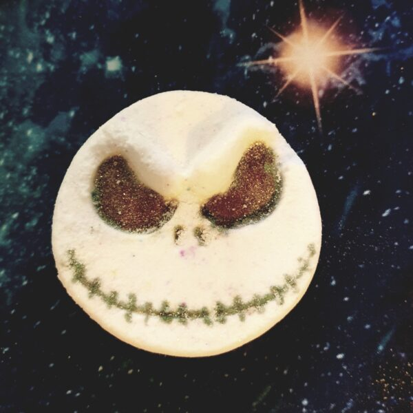 Skeleton jack Halloween nightmare before Christmas style bathbomb vegan eco sustainable